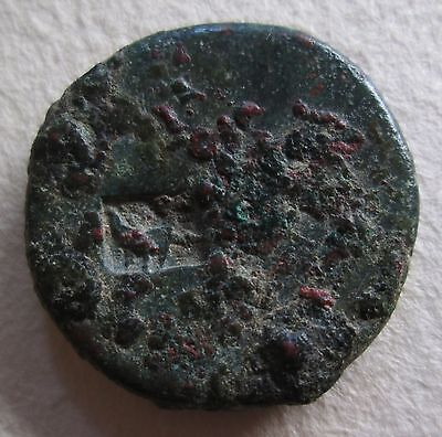 Roman Bronze Coin With Boat Countermark 10Th Legion Counter Mark Archaeology • CAD $175.59