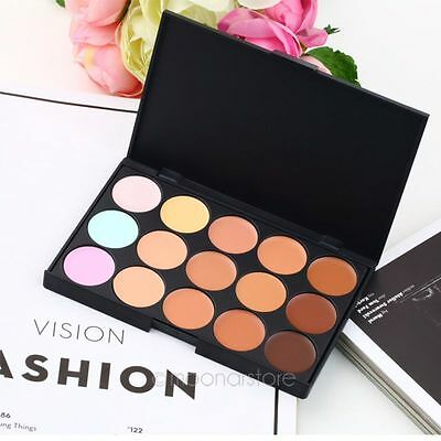 Professional Salon/Party 15 Colors Concealer Contour Face Cream Makeup Palette A