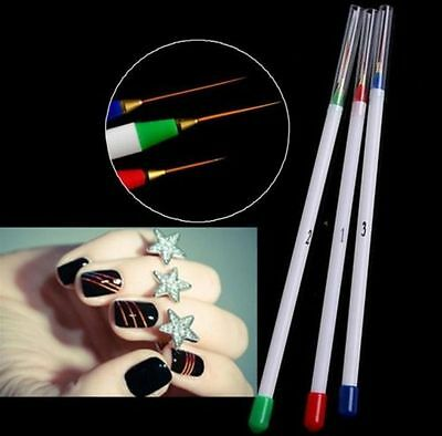 Korean Manicure Nail Art Dotting Drawing Pen Painting Tool Striping Brush Design