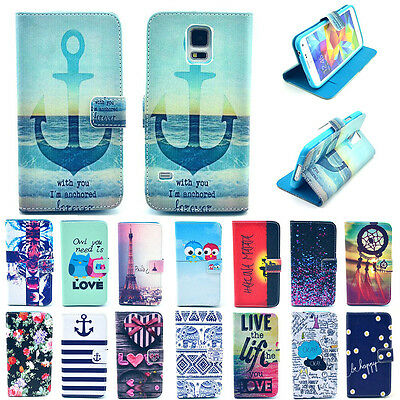 Fashion Vintage Stand Hybrid Impact Flip Leather Wallet Case Cover for Samsung