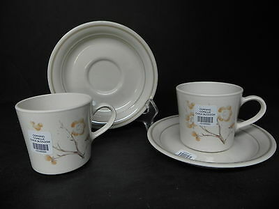 CORNING CORELLE CHINA BLOSSOM set of 2 CUPS  & SAUCERS