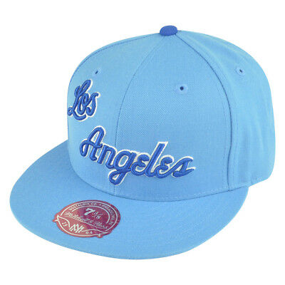 91b25d45858 NBA Mitchell Ness Los Angeles Lakers Light Blue TK41 Alternate 2 Hat Cap