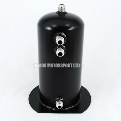 2.5 Litre Black Dome Alloy Fuel Surge Swirl Pot Tank An8 -8 Single Lightweight