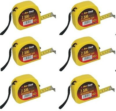 "6 x 7.5M Metre 25ft Tape Measure Measurer ""1 Wide Trade Builder Bulk Measuring"