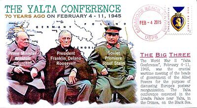 "COVERSCAPE computer designed 70th anniversary ""Yalta Conference"" event cover"