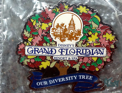 DISNEY'S GRAND FLORIDIAN RESORT & SPA 2006, OUR DIVERSITY TREE PIN, MINT