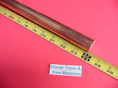 """1"""" C110 COPPER ROUND ROD 24"""" long H04 Solid 1.00"""" OD CU New Lathe Bar Stock"""