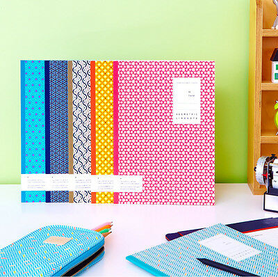Geometric Pattern School Lined Large Notebook 6 type