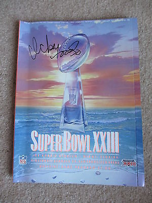 1989 Super Bowl Program Autographed Ickey Woods Cover