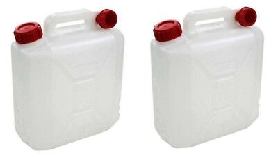 2 x New 25 Litre Container /& Cap Jerry Can Drum Bottle Water Camping Fuel