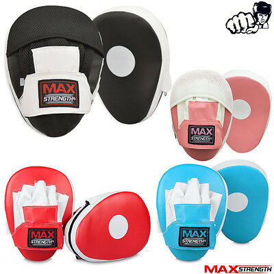 Boxing Focus Pads Hook and Jab Punch Bag Gloves Muay Thai Training Mitts Pair