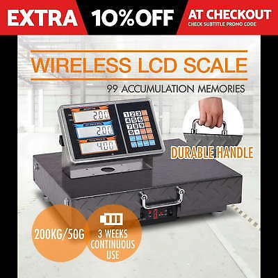 200kg Digital Parcel Scales Electronic Platform Computing Wireless Postal Weight