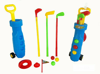 Kids Toy Golf Set Plastic Golf Clubs Balls Caddy Garden Summer Fun Outdoor TY681