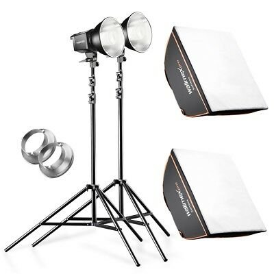 walimex pro 2er Set Daylight 250S + Softbox + Stativ