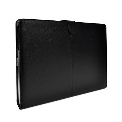 "Black Leather Case Cover Bag for Apple Macbook Pro 15"" with Model Number A1286"