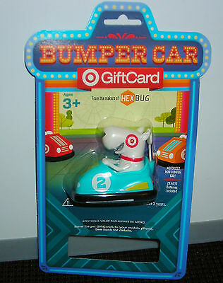 Target Gift Card No Cash Value Bullseye Blue Bumper Car Toy Collectible Only