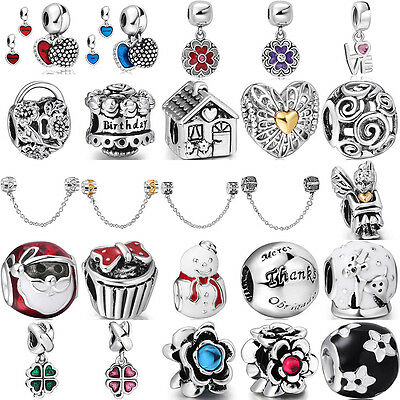 European charm bead Fit For lot sterling solid silver Bracelet Bangle Necklace
