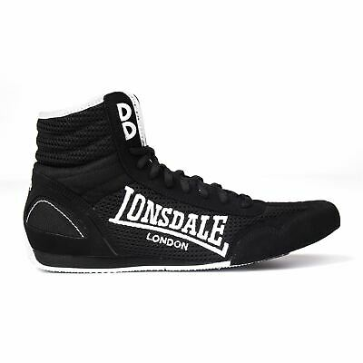 Lonsdale Kids Contender Junior Boxing Boots Boys Mid cut Laced Lightweight Shoes