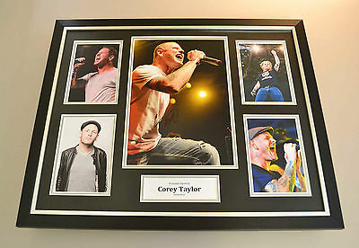 Corey Taylor Signed Photo Large Framed Display Stone Sour Autograph Memorabilia