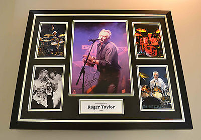 Roger Taylor Signed Photo Large Framed Display Queen Autograph Memorabilia + COA