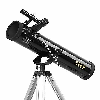 Coleman 700x76mm Reflector Telescope with Starry Night CD Software
