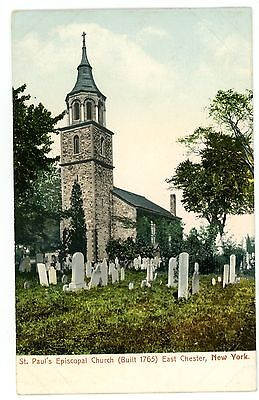 East Chester NY-ST PAULS EPISCOPAL CHURCH-Postcard Eastchester nr Bronxville