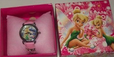 Tinkerbell Boxed Wrist Watch Pink Kids Girls Childs Toy Gift Box Uk Seller