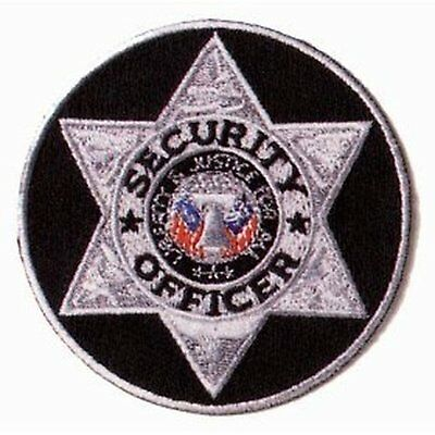 """PAIR SECURITY OFFICER Guard ROUND Uniform Patch Badge Shield Emblem Insignia 3"""""""