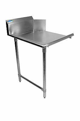 """Commercial Stainless Steel 36"""" Left Side Clean Dish Table NSF"""