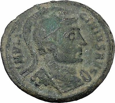 LICINIUS I Constantine the Great enemy 320AD Rare Ancient Roman Coin Flag i47002
