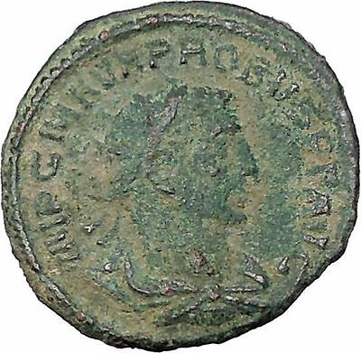 Probus  receiving Victory  from Jupiter Authentic Ancient  Roman Coin i47004