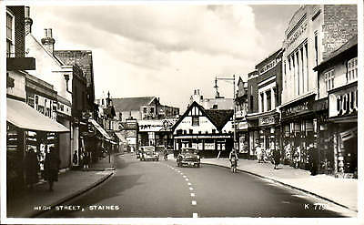 Staines. High Street # K 7796 by Valentine's. Woolworth's.