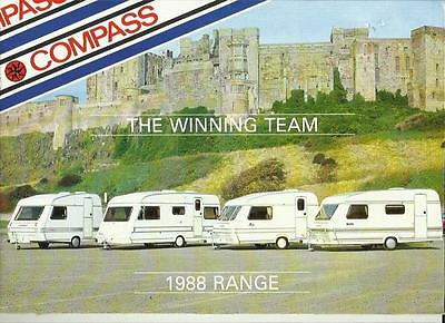 Compass Shadow, Omega, Rallye And Commodore Caravan Sales Brochure 1988 +Prices