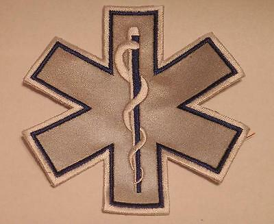 """EMS Star of Life Blue Reflective Patch 7"""""""