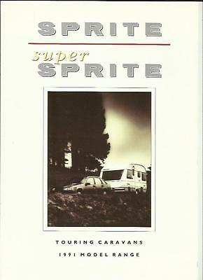 Sprite And Super Sprite Caravan Sales Brochure 1991 + Prices