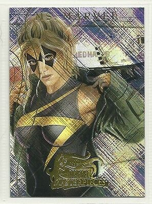 Marvel Comics Masterpieces 2008 Heroines Foil Insert Single Card MH 4 Ms Marvel