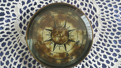 New Antique Styled Ornamental Metal Paperweight Floating Compass