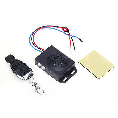 Motorcycle Anti-theft Security Alarm System with Remote Control DC 12V Black