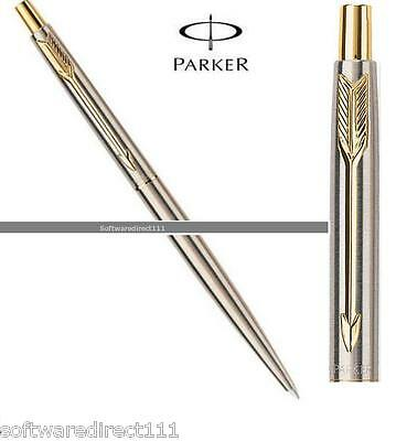 Parker Classic Stainless Steel GT (Gold Trim) Ball Pen Original New in Box