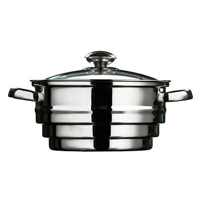 Stainless Steel Food Steamer Large Saucepan Vegetable Strainer Steaming Pot Pan
