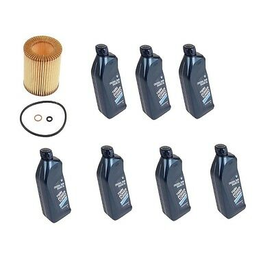 7-Quarts Genuine For BMW Synthetic Motor Oil 5W 30+Oil Filter Genuine New