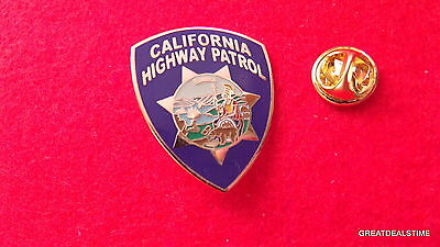 California Highway Patrol Police Dept Patch Badge,Officer Mini CHIPS LAPEL PIN