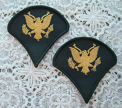 New ~ Us Army Specialist (E-4) (Sp-4) Patches (Pair (2) ~ New)