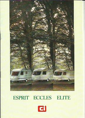 Ci ESPRIT, ECCLES AND ELITE CARAVAN SALES BROCHURE 1988 + PRICES