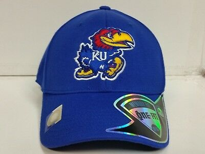 Kansas Jayhawks KU Cap TOW Premium Collection Stretch Memory Fit Fitted Hat