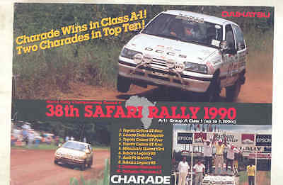 1990 Daihatsu Charade Africa Safari Rally Race Car Brochure wu8056