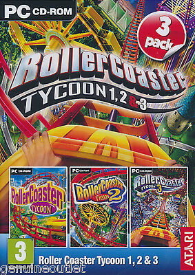 NEW! ROLLERCOASTER TYCOON 1 2 3 Collection for PC CD SEALED NEW