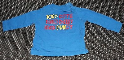 """""""Mothercare"""" Baby Boy's Blue Top 3-6 Months"""