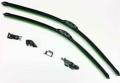 """16"""" + 24"""" Quality Pair Of Front New Style Aero Flat Windscreen Wiper Blades"""