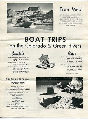 Vintage Sales Flyer: TEX'S COLORADO RIVER CRUISES [Moab, Utah]